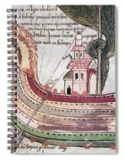 Viking Ship - 10th Century Spiral Notebook