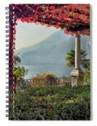 Villa Cipressi Pergola On Lake Como I Spiral Notebook