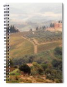 Villa On A Hill In Tuscany Spiral Notebook