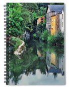 Village Reflections In Luxembourg II Spiral Notebook