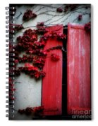 Vines On Red Shutters Spiral Notebook