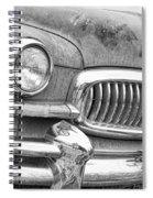 Vintage 1951 Nash Ambassador Front End 2 Bw Spiral Notebook
