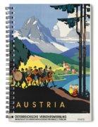 Vintage Austrian Travel Poster Spiral Notebook