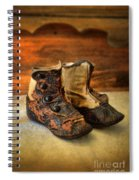 Vintage Baby Shoes Spiral Notebook