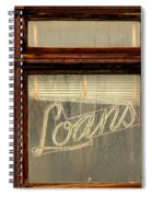 Vintage Bank Sign Spiral Notebook