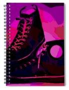 Vintage Basketball Shoes Spiral Notebook