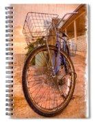 Vintage  Bicycle Spiral Notebook