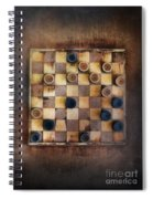 Vintage Checkers Game Spiral Notebook