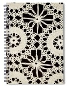 Vintage Crocheted Doily Spiral Notebook