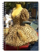 Vintage Dress At Flea Market Spiral Notebook