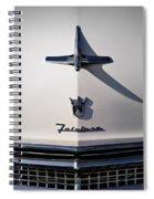 Vintage Ford Fairlane Hood Ornament Spiral Notebook