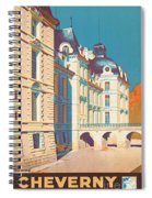 Vintage French Travel Poster Spiral Notebook