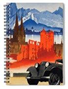 Vintage Germany Travel Poster Spiral Notebook
