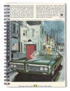 Vintage Gm Pontiac Spiral Notebook