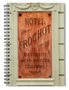 Vintage Hotel Sign 3 Spiral Notebook