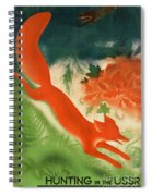 Vintage Hunting In The Ussr Travel Poster Spiral Notebook