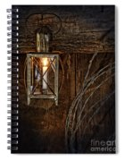 Vintage Lantern Hung In A Barn Spiral Notebook