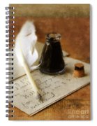 Vintage Letter And Quill Pen Spiral Notebook