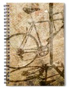 Vintage Looking Bicycle On Brick Pavement Spiral Notebook