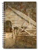 Vintage Looking Old Barn In The Great Smokey Mountains Spiral Notebook