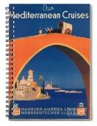 Vintage Mediterranean Travel Poster Spiral Notebook