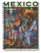 Vintage Mexico Travel Poster Spiral Notebook