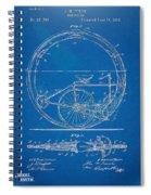 Vintage Monocycle Patent Artwork 1894 Spiral Notebook