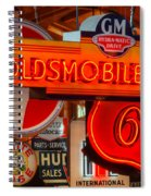 Vintage Neon Sign Oldsmobile Spiral Notebook