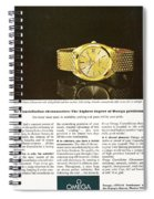 Vintage Omega Watch Spiral Notebook