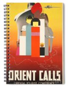 Vintage Oriental Tourist Conference Poster Spiral Notebook