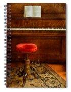 Vintage Piano Spiral Notebook