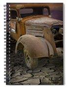 Vintage Pickup On Parched Earth Spiral Notebook