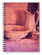 Vintage Pitcher And Wash Basin Spiral Notebook