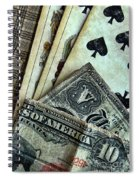 Vintage Playing Cards And Cash Spiral Notebook
