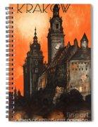 Vintage Poland Travel Poster Spiral Notebook