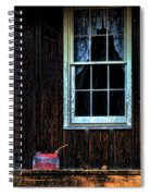 Vintage Porch Window And Gas Can Spiral Notebook