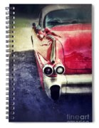 Vintage Red Car Spiral Notebook