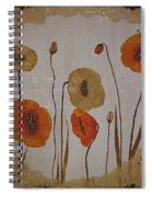 Vintage Red Poppies Painting Spiral Notebook