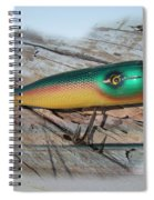 Vintage Saltwater Fishing Lure - Masterlure Rocket Spiral Notebook