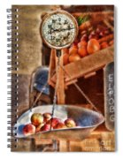 Vintage Scale At Fruitstand Spiral Notebook