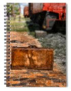 Vintage Suitcase By Train Spiral Notebook
