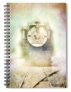 Vintage Train Engine Spiral Notebook