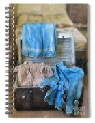 Vintage Trunk With Ladies Clothing Spiral Notebook
