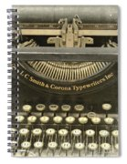 Vintage Typewriter Spiral Notebook