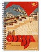 Vintage Ukraine Travel Poster Spiral Notebook