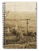 Vintage View Of Ontario Fields Spiral Notebook