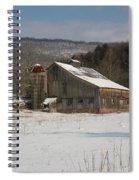 Vintage Weathered Wooden Barn Spiral Notebook