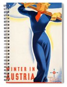 Vintage Winter In Austria Travel Poster Spiral Notebook