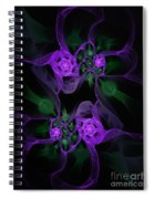 Violet Floral Edgy Abstract Spiral Notebook
