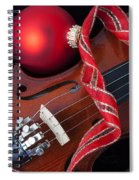 Violin And Red Ornaments Spiral Notebook
